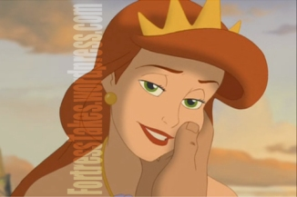 Ariel's mother and King Triton's wife, Queen Athena.  (Nice eyes.  Contacts?)