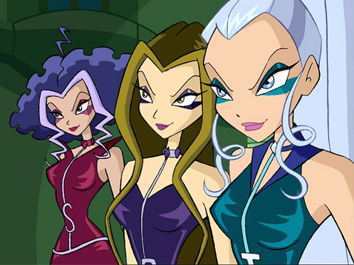 Stormy, Darcy, and Icey could electrocute you, burn your mind, and/or freeze you solid... in that order.