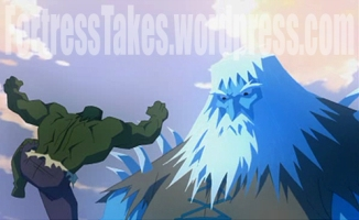 "There is a welcome surprise appearance by Frost Giants.  ""Hulk smash blue men!"""