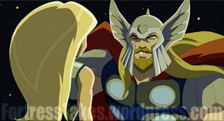 Visually, Thor was pleasing for his 19 second cameo.  However his indifference toward Earth, his former fiends and even his daughter made him seem out of character.