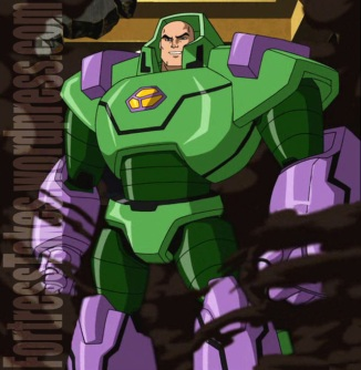 Green and purple?  Luthor knows to keep his armor in the classic villain's pallette.