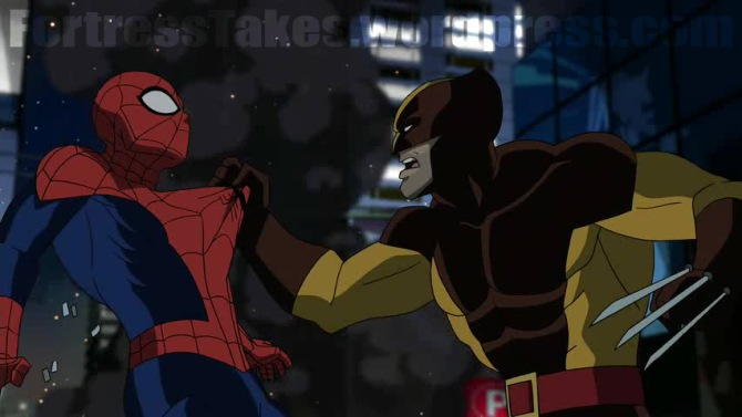 Ultimate_Spider_man_wolverine_is nice and patient